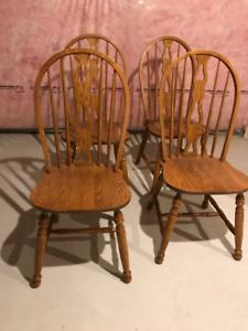 Solid Oak Kitchen Chairs (mennonite Furniture)