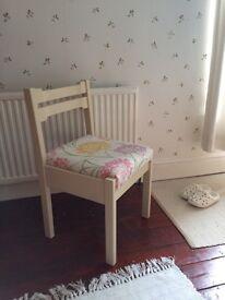 Shabby chic chair Laura Ashley fabric Annie Sloan