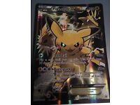 Regular sized Pikachu EX Pokémon trading card