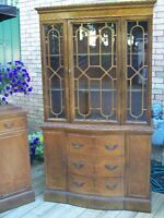 GORGEOUS TALL ANTIQUE CHINA CABINET