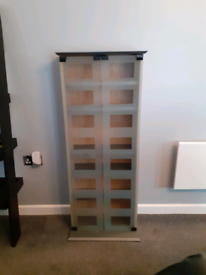 Light Oak and Grey CD /DVD Storage Cabinet