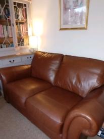 Gorgeous Tan Leather Sofa