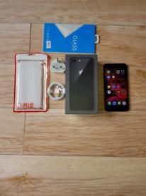 Iphone 8 Plus Bundle Unlocked 64GB Black I Phone Eight +
