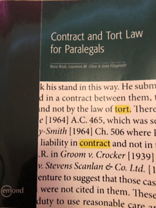 Contract and Tort Law Textbook