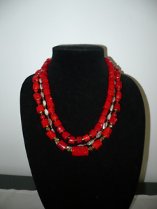 Coral Modern ETHNO necklace.