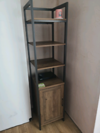 Industrial bookcase/media tower brand new