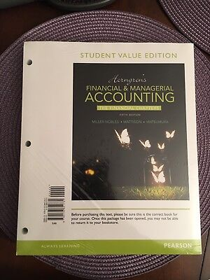 NEW Horngren's Financial & Managerial Accounting, 5th Edition LOOSE-LEAF