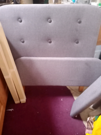 Material single bed frame in great condition