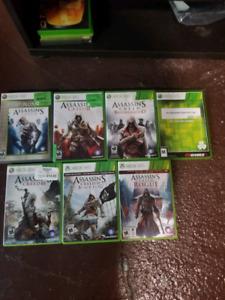 Assassin's Crees Xbox 360 - 7 Jeux!!