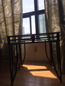 2 Glass Coffe Table Black ($100 Or Best Offer)