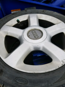 5 factory aluminum rims and tires for a Audi  A6