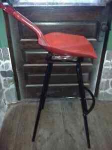 Rare Unique Swiveling Shovel Seat Bar Stool - Dutch Auction Kitchener / Waterloo Kitchener Area image 2