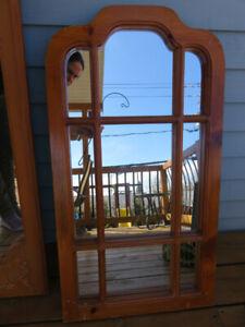 Miroir cadre en bois