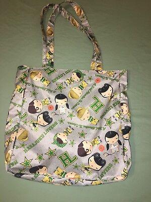 Harajuku Lovers Tote Bag - HL Long Handled Lined Anime Sports theme 13.5x 15