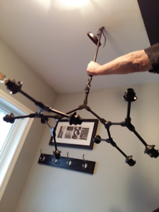 Awesome Industrial Chic Pipe  Ceiling Fixture with 9 Lights