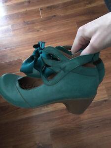 Teal Leather Portofino Shoes