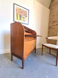 Mid Century Teak Desk Bureau by Remploy