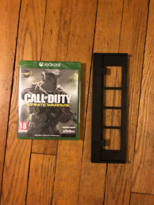 Xbox One S vertical stand + Call of Duty Infinite Warfare