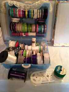 CHRISTMAS RIBBON, WEDDING RIBBON,  AND ROLLS OF TULLE