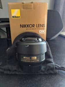 Nikon AF-S DX Nikkor 35mm f/1.8G Prime Lens