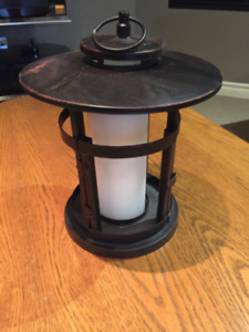Bronze Rustic Candle Lantern - Perfect For The Deck!