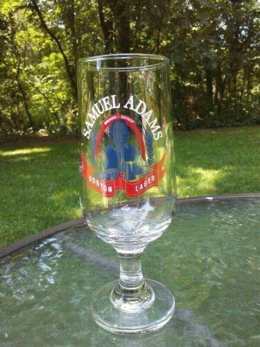 Samuel Sam Adams RARE Pedestal Glass Beer Boston Lager Brewer Patriot Barware