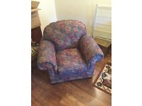 Floral pattern living room chairs / seats / armchairs X 2