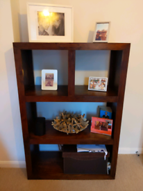 Solid wooden shelving unit
