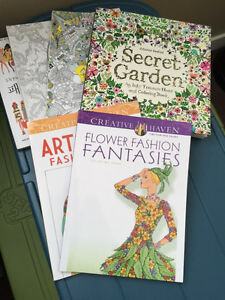 Coloring books and Derwent Inktense Watercolor Pencils