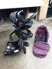 Graco Evo travel system. All in one pram/pushchair/car seat