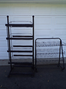 Metal Wire Shelves On Casters
