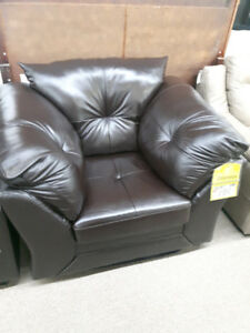 Brown Genuine Leather Chair