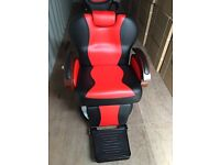 NEW HEAVY DUTY RED&BLACK BARBER CHAIR BX 2685 B more than 100 pcs available