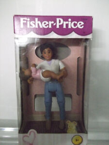 vintage fisher price African American mom and baby