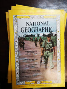 Old National Geographic magazines (near full sets for 1965-1981)
