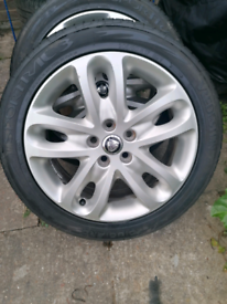 "Jaguar OEM 17"" Alloys and brand new tyres"