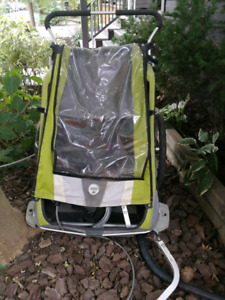 Chariot Cougar 2 with jogging and bike attachment