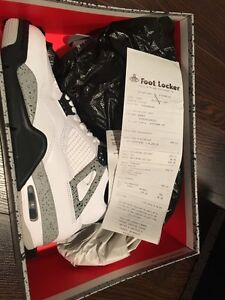 Air Jordan 4 white cement size 8.5 with receipt