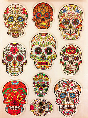 Sugar Skull Sticker Day of The Dead Decal Sticker Car Truck Window Laptop - Day Of The Dead Stickers