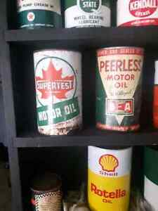 VINTAGE PETRO OIL CAN COLLECTION Windsor Region Ontario image 2