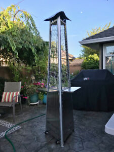Patio Heater Tower,  Centre Flame cylinder style