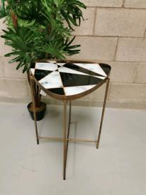 Mid Century Modern Retro Folding Geometric Side Table