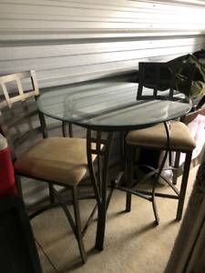 Counter Height Table & Two Chairs