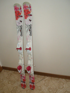 Kids downhill skis and boots assorted lengths and boot sizes