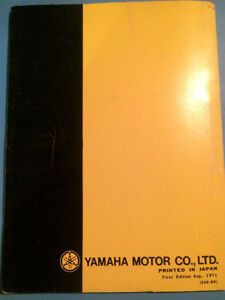 1972 Yamaha Parts Book Model U7E Regina Regina Area image 4