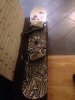 Rossignol snowboard and bindings