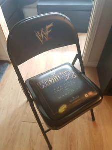 Wrestlemania x8 chair wwe wwf rock vs hogan