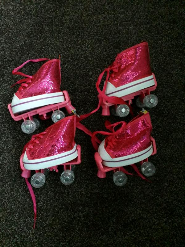 BUILD A BEAR Pink Skates