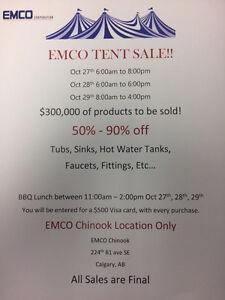 Huge Plumbing Tent Sale!!!!