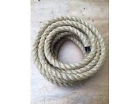28mm natural sisal decking garden rope